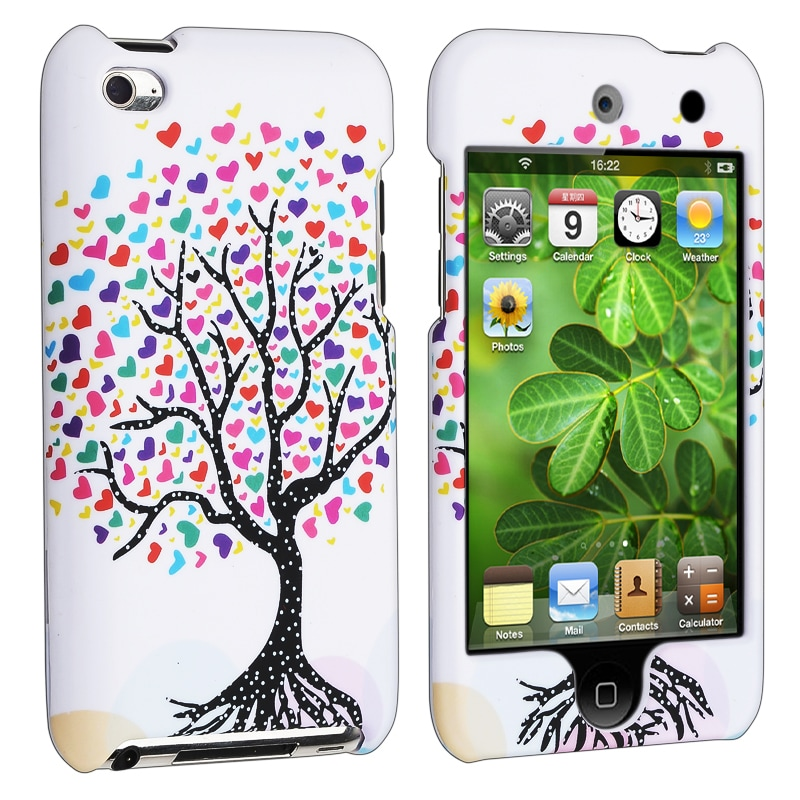 INSTEN White Love Tree Hearts iPod Case Cover for Apple iPod Touch Generation 4