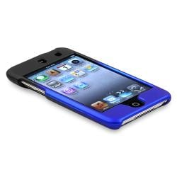 INSTEN Black to Blue Rubber Coated iPod Case Cover for Apple iPod Touch Generation 4 - Thumbnail 2