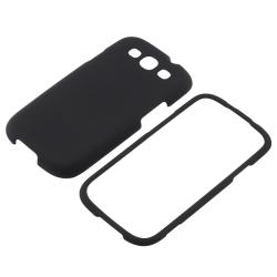 INSTEN Black Snap-on Rubber Coated Phone Case Cover for Samsung Galaxy S III i9300 - Thumbnail 1