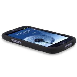 INSTEN Black Snap-on Rubber Coated Phone Case Cover for Samsung Galaxy S III i9300 - Thumbnail 2