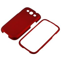 INSTEN Red Snap-on Rubber Coated Phone Case Cover for Samsung Galaxy S III i9300 - Thumbnail 1