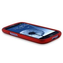 INSTEN Red Snap-on Rubber Coated Phone Case Cover for Samsung Galaxy S III i9300 - Thumbnail 2