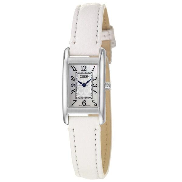 Coach Women's 14501075 Lexington Rectangle White Strap Watch