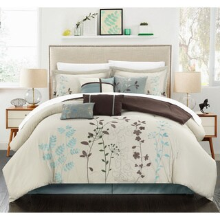 Copper Grove Point Pelee Beige 12-piece Bed in a Bag with Sheet Set