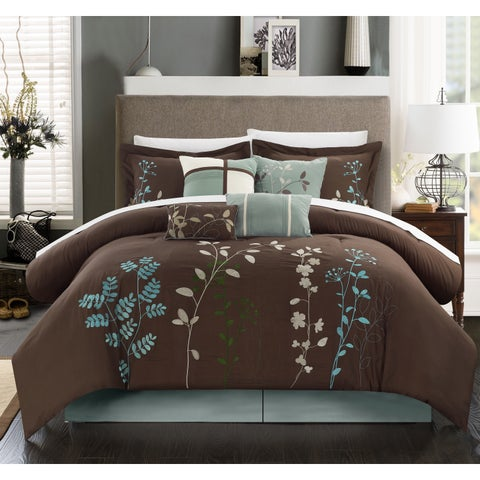 Copper Grove Point Pelee Chocolate Brown 12-piece Bed in a Bag Set