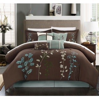 The Gray Barn Doelger Chocolate Brown 12-piece Bed in a Bag Set