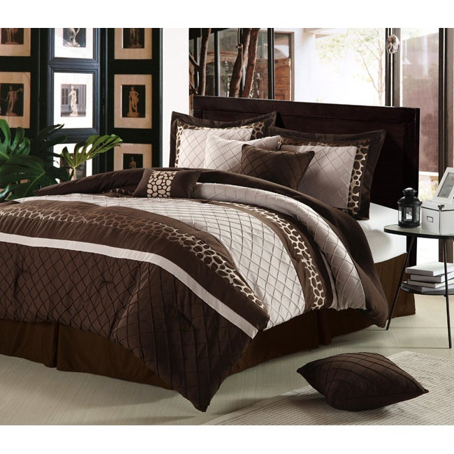 Cheetah Chocolate 12-piece Bed in a Bag with Sheet Set