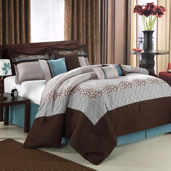 Mustang Brown 12-piece Bed In a Bag with Sheet Set
