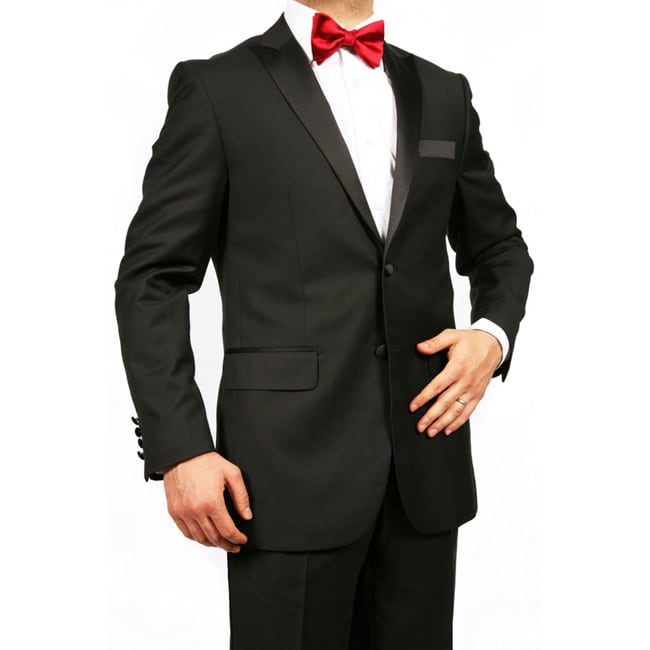 Ferrecci Men's Peak Lapel Slim Fit Tuxedo