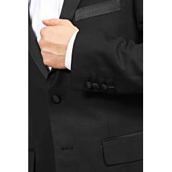 Ferrecci Men's Peak Lapel Slim Fit Tuxedo - Thumbnail 2