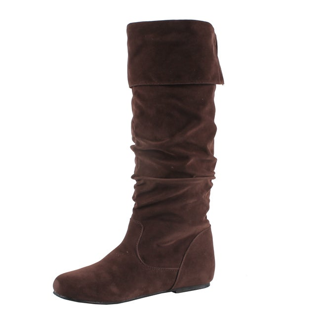 Marilyn Moda Women's 'Bony-B' Brown Knee-high Boots