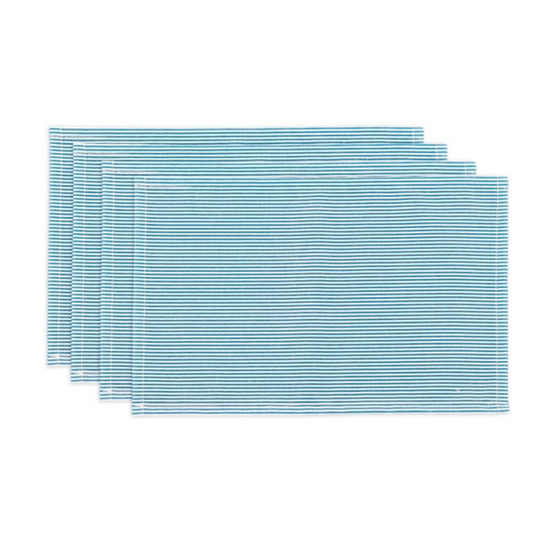 Oxford Sailor Blue/ White Striped Placemats (Set of 4)
