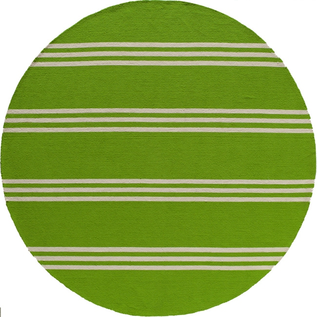 South Beach Indoor/Outdoor Lime Stripes (9' x 9' Round)