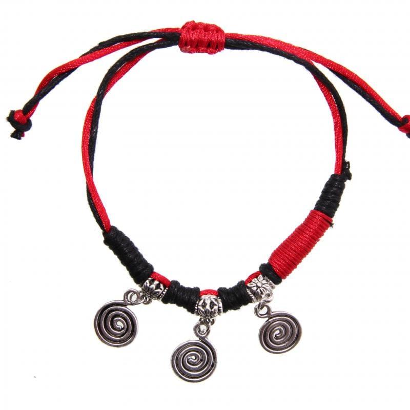 Handmade Miao Silver Spiral Bracelet (China)