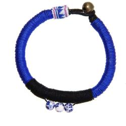 Handmade Blue and White Porcelain Bracelet (China) - Thumbnail 1
