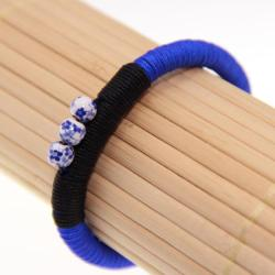 Handmade Blue and White Porcelain Bracelet (China)