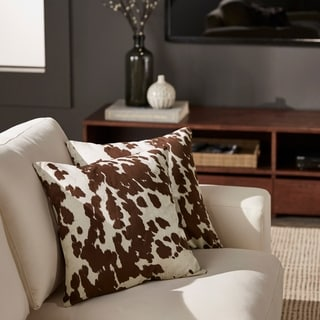 decor cow hide print pillow set of 2 by inspire q bold - Decorative Pillows For Sofa