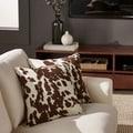 TRIBECCA HOME Decor Cow Hide Print Pillow (Set of 2)