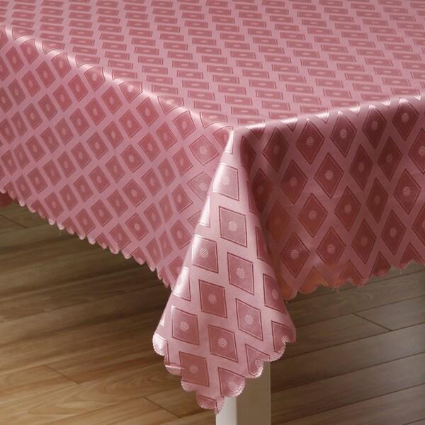 Prestige Pink Diamond Damask 57x95-inch Tablecloth