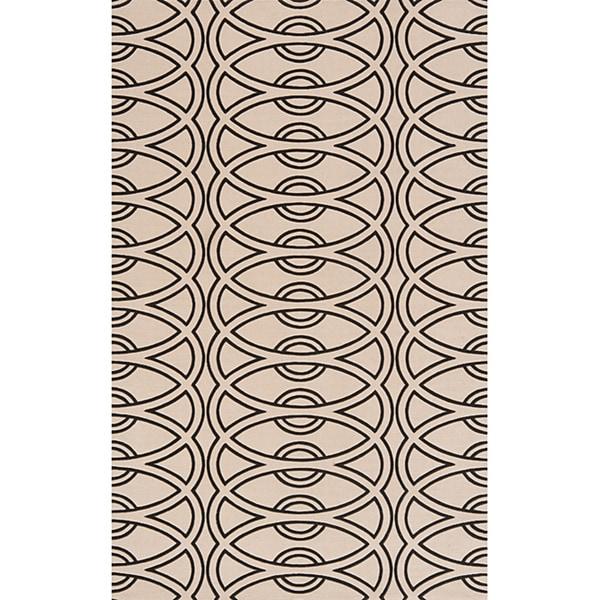 Soho Chic Power-Loomed Ivory Wool Rug (8' x 11')