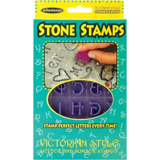 Stone Stamps - 20 Double-sided Victorian-style Letters and Numbers|https://ak1.ostkcdn.com/images/products/6982434/P14493653.jpg?impolicy=medium