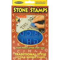 Milestones 'Traditional Style Letters & Numbers' Stone Stamps