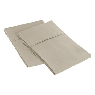 Superior Microfiber Wrinkle-resistant Solid Plain Weave Pillowcases (Set of 2) (More options available)