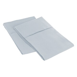 Superior Microfiber Wrinkle-resistant Solid Plain Weave Pillowcases (Set of 2) (Option: King/ Silver)