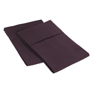 Superior Microfiber Wrinkle-resistant Solid Plain Weave Pillowcases (Set of 2)