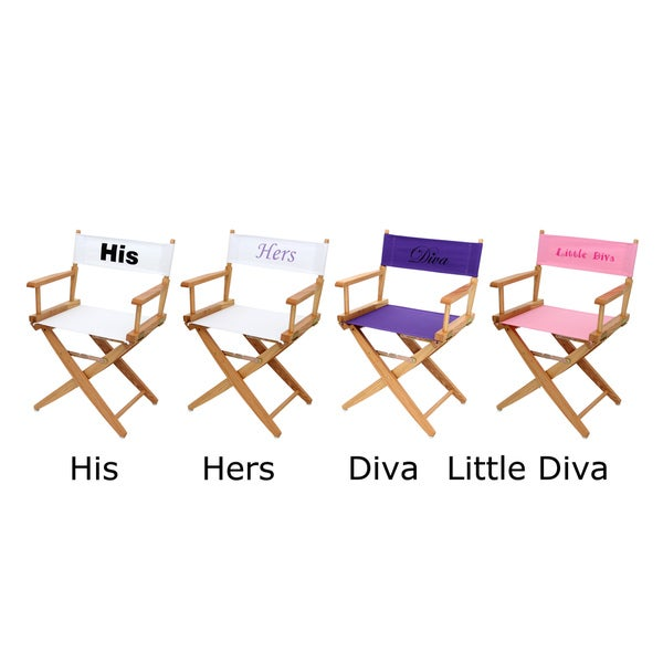 Personalized Canvas Natural Frame Directors Chair