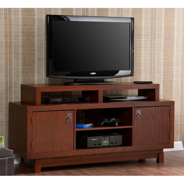 Shop Emerson Brown Mahogany Tv Media Stand Overstock