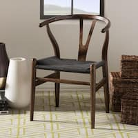 Carson Carrington Akaa Dark Brown Wood Y Dining Chair (Set of 2)