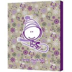 Felittle People 'Snow Much Fun Girl' Gallery-wrapped Canvas Art