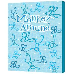 Felittle People 'Monkey Around' Gallery-wrapped Canvas Art - Thumbnail 0