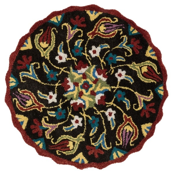 Hand Tufted Lucinda Brown Wool Rug (3'0 x 3'0)