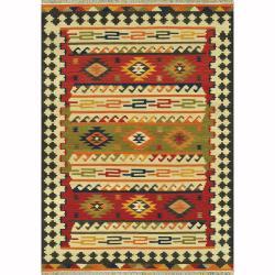 Hand-woven Cordova Multi Rug - Red/Multi - 7'6 x 9'6 - Thumbnail 0