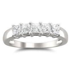 Montebello 14k White Gold 7/8ct TDW Princess-cut Diamond Wedding Band (H-I, I1-I2)