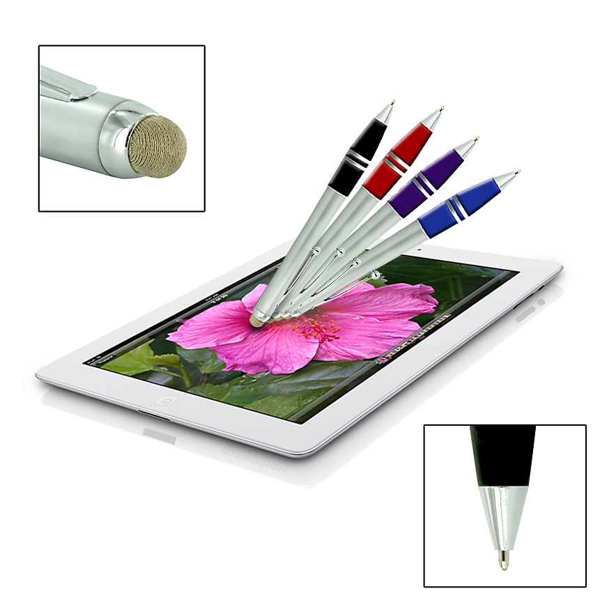 Dual-purpose Micro-Knit Technology Capacitive Stylus/ Retractable Ballpoint Pen - Thumbnail 0