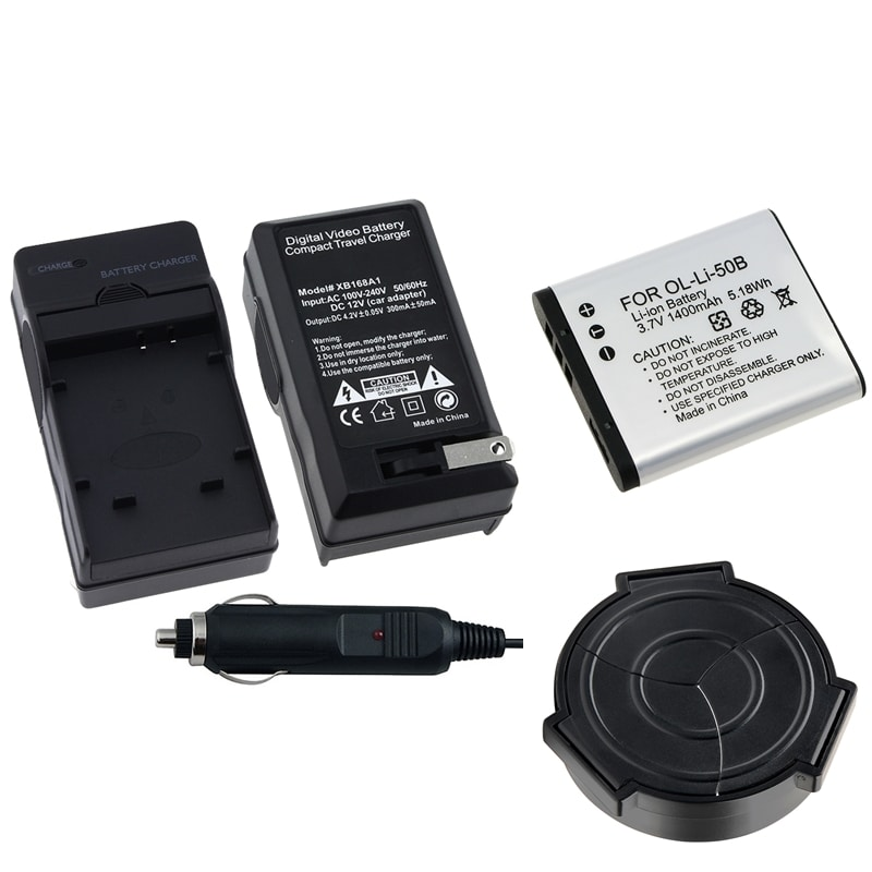 Battery/ Charger Set/ Auto Lens Cap for Olympus XZ-1