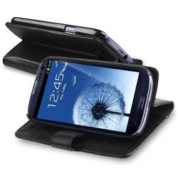 INSTEN Leather Case Cover/ Protector/ Wrap/ Car Charger for Samsung Galaxy S III - Thumbnail 2