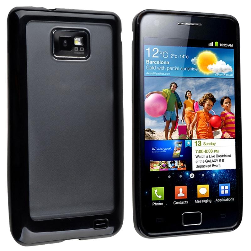 Black Border TPU and PC Case for Samsung© Galaxy S II i9100