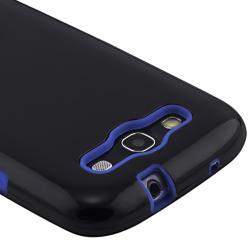 Blue Skin/ Black Hard Hybrid Case for Samsung© Galaxy S III