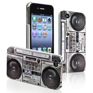 INSTEN Old Player Snap-on Rubber Coated Phone Case Cover for Apple iPhone 4/ 4S