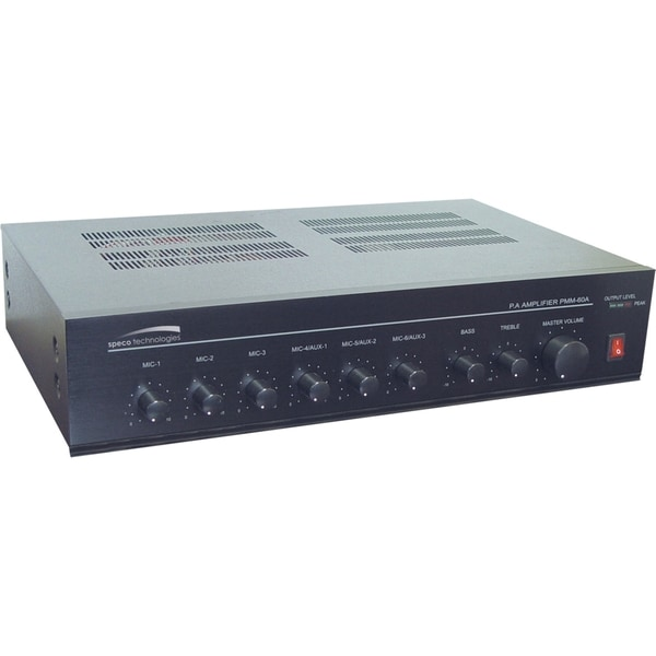 Speco Contractor PMM60A Amplifier - 60 W RMS