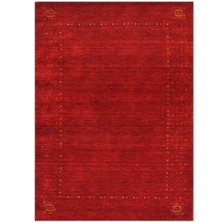 Herat Oriental Indo Hand-loomed Gabbeh Wool Rug (6' x 9')