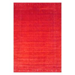 Herat Oriental Indo Hand-loomed Red/ Green Gabbeh Wool Rug (10' x 14')