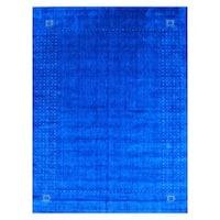 Handmade Herat Oriental Indoed Gabbeh Wool Rug  - 9' x 12' (India)