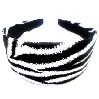 Crawford Corner Shop Black White Zebra Skin Headband