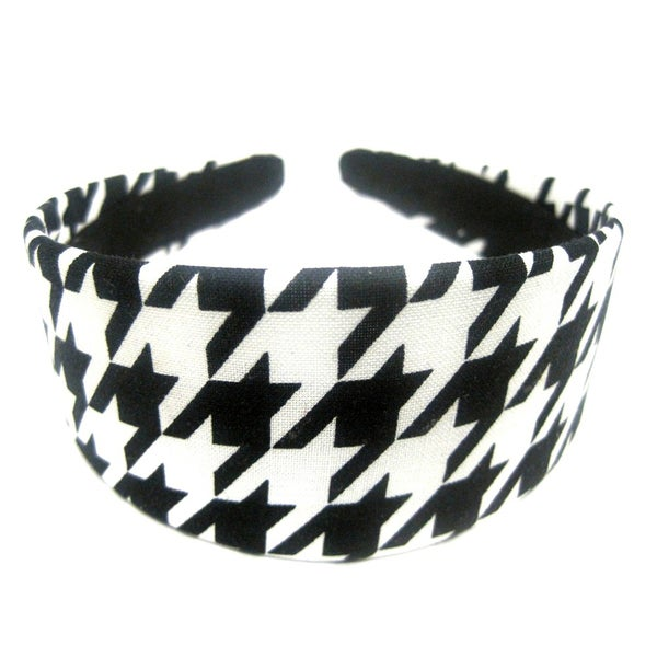 Crawford Corner Shop Black White Houndstooth Headband