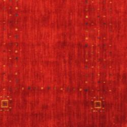 Indo Hand-loomed Red/ Blue Gabbeh Wool Rug (3' x 5') - Thumbnail 2